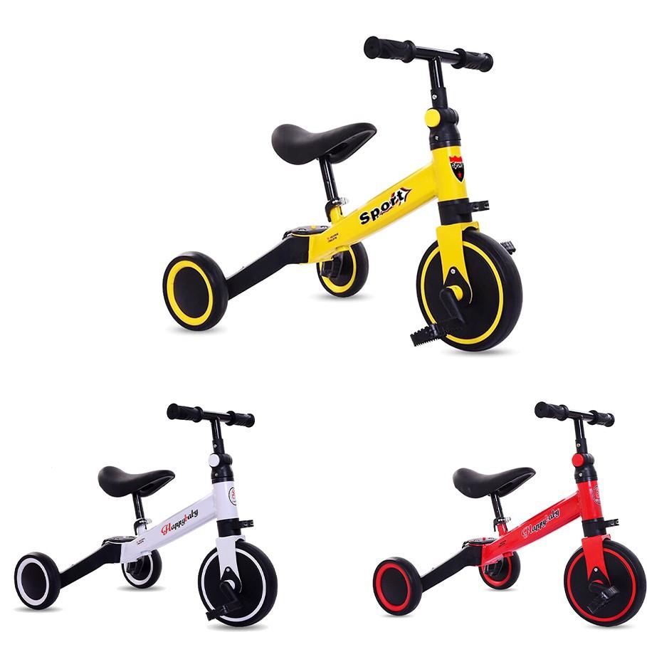 Xe đạp thăng bằng kiêm chòi chân 3in1 cho bé - Chính Hãng HAPPY