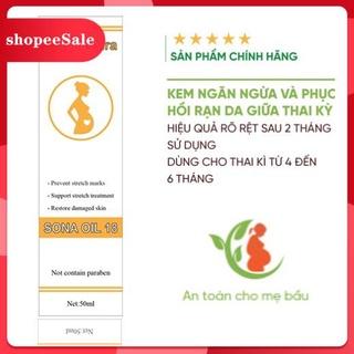 (Hàng Mới Về) Dầu rạn da - Ngăn ngừa và làm giảm rạn da khi mang thai kem Sona Oil 18 thumbnail