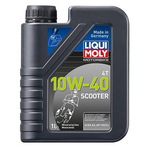 Dầu nhớt xe ga Liqui Mobi Motorbike 4T 10W-40 Scooter 1618 1 lít SG/SJ