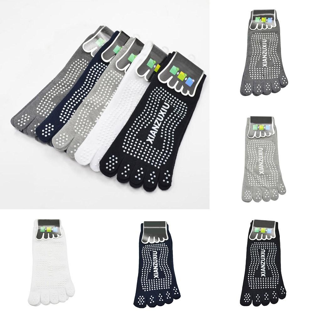 luoyangmudan Men's  Five Fingers Toes Sports Soft Cotton Boat Socks
