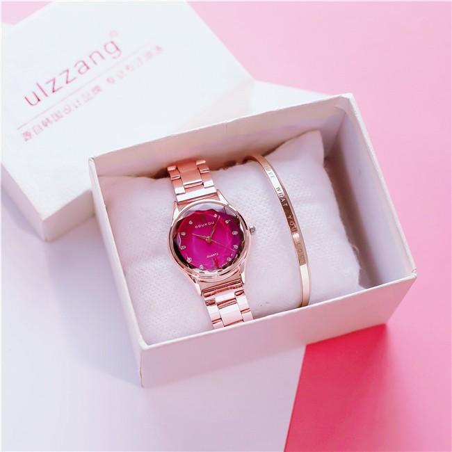 Đồng hồ nữ DOU01 DOUKO mặt vát sang trọng tinh tế