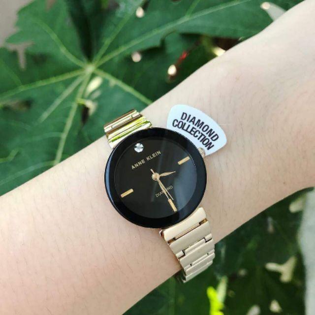 Đồng hồ Anne Klein nữ chính hãng Diamond Black Dial Ladies Watch - 2686525 , 472398654 , 322_472398654 , 1650000 , Dong-ho-Anne-Klein-nu-chinh-hang-Diamond-Black-Dial-Ladies-Watch-322_472398654 , shopee.vn , Đồng hồ Anne Klein nữ chính hãng Diamond Black Dial Ladies Watch