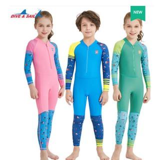 Đồ bơi dài tay liền quần cho bé (ảnh thật) – chống nắng UPF50