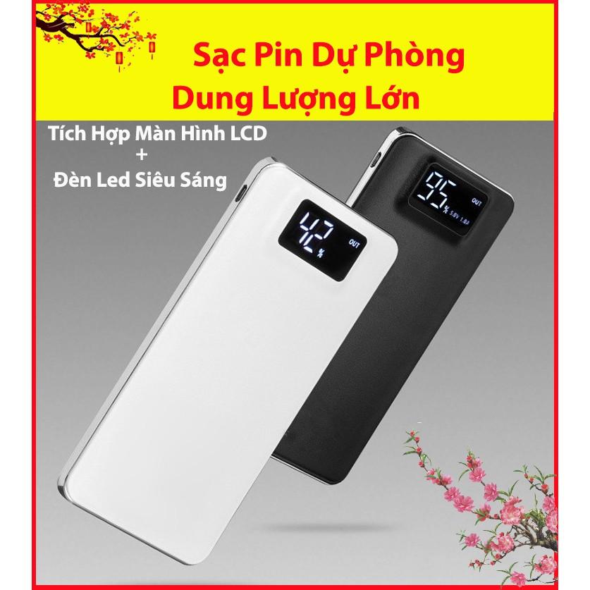 [ FREESHIP ] Pin Sạc Dự Phòng POWER BOX Dung Lượng Lớn 20000mAh Tích Hợp Màn Hình LCD Hiển Thị Dung Lượng Pin
