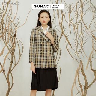 Áo vest nữ caro 4 nút A12911 GUMAC thumbnail
