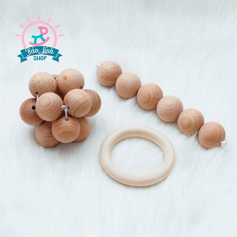 Combo Xúc Xắc Tập Cầm Nắm cho bé 3-6 Tháng - CHUẨN Montessori