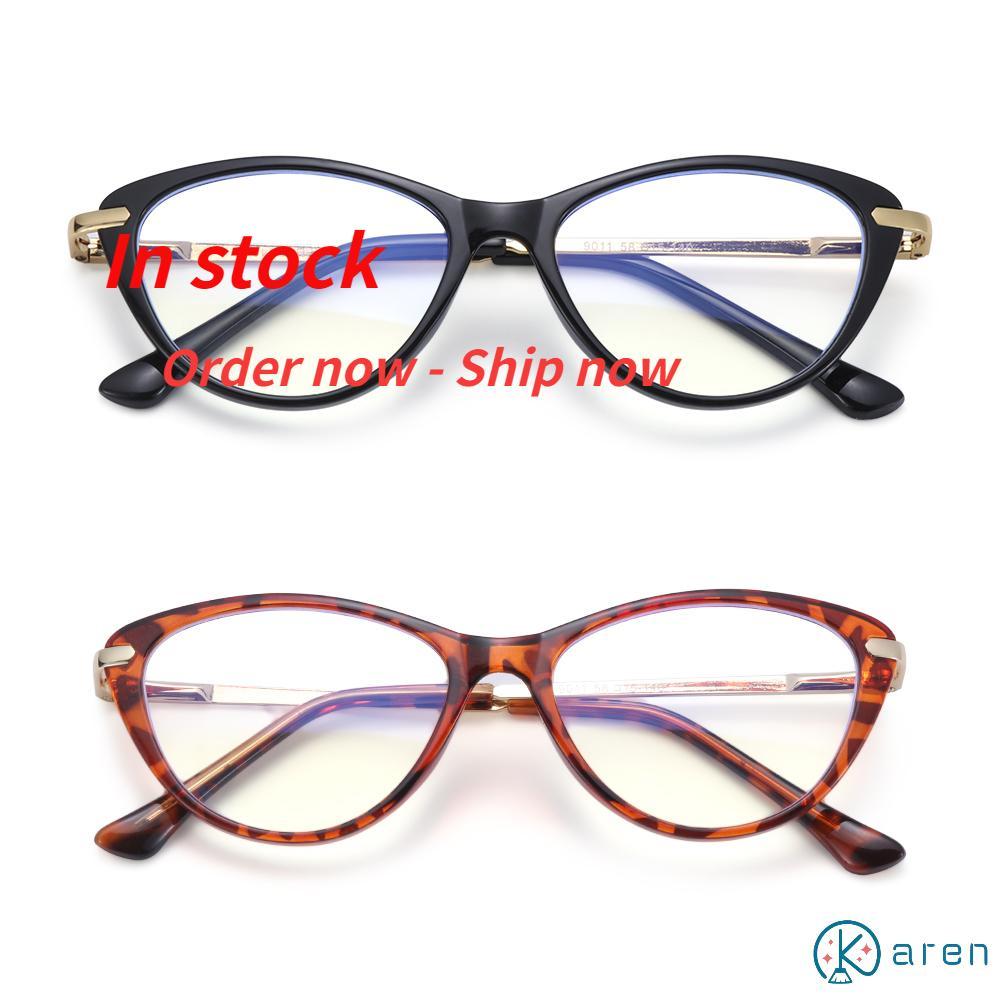 👗KAREN💍 Women & Men Computer Glasses Reading Gaming Eyeglasses Blue Light Blocking Glasses Fashion Anti Eye Eyestrain Oval Frame Non-Prescription...