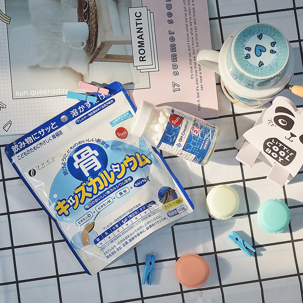 Viên Tăng Chiều Cao GH Creation +Bột Bone's Calcium for Kids bổ sung Canxi Cá Tuyết Nhật Bản