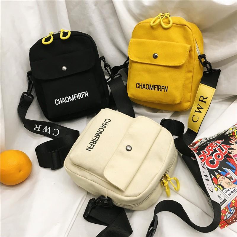 Túi xách đeo chéo tote hàng quảng châu vải bố trơn cá tính - TXN84