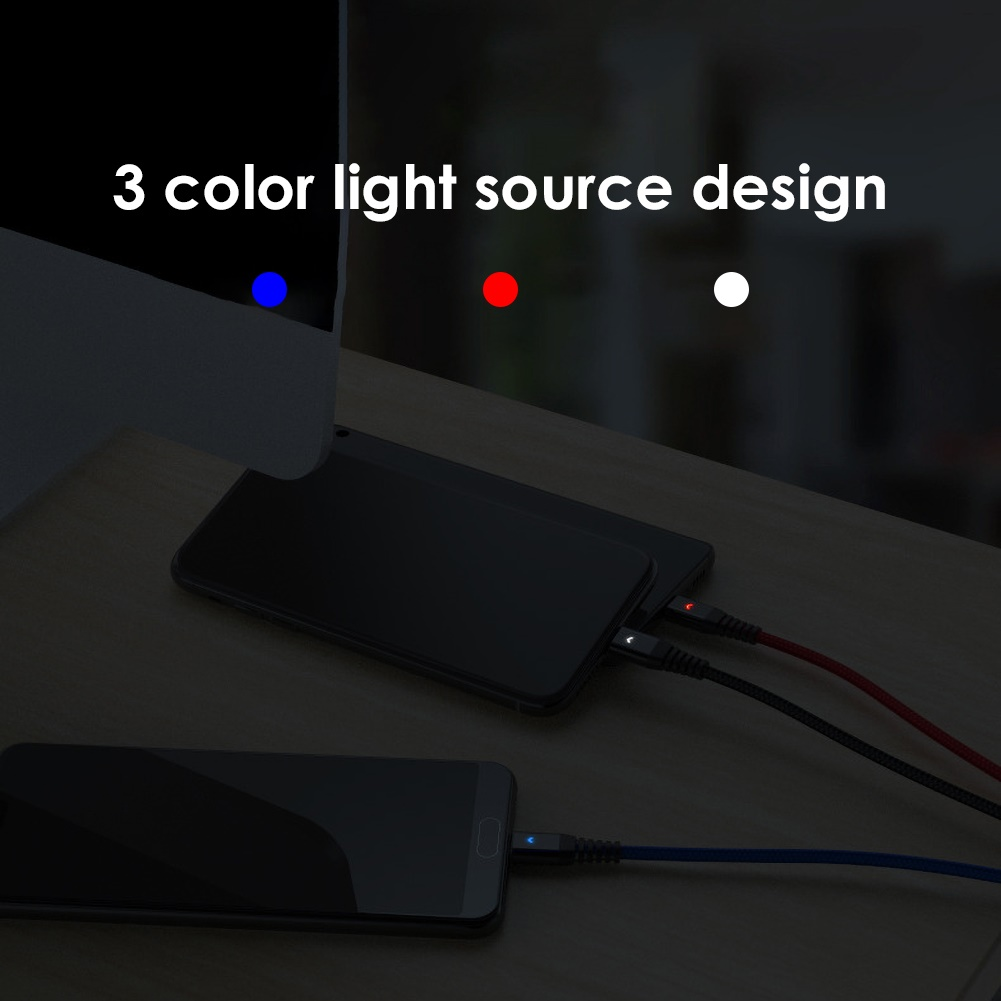 Dây Cáp Sạc Nhanh 3 Trong 1 Micro Usb Loại C 3.1a Cho Iphone / Android