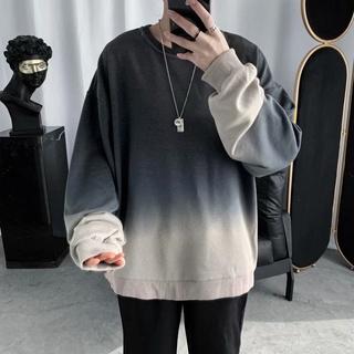 [áo sweater nam thu đông form rộng tay dài]áo thun nam dài tay oversize unisex màu loang