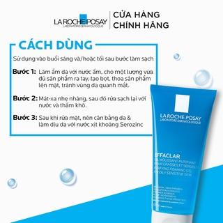 Hình ảnh Gel rửa mặt tạo bọt làm sạch da dành cho da dầu nhạy cảm La Roche-Posay Effaclar Purifying Foaming Gel 200ml-5