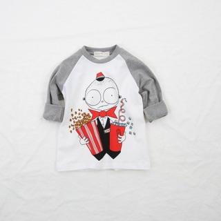 (20-25kg) Mã K207 Áo dài tay cà phê sáng cho bé trai 6 tuổi hiệu Cheerio