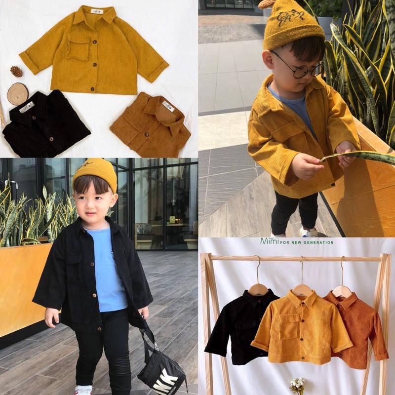Áo nhung tăm chuẩn hãng MiMi mềm mượt cho bé trai/ bé gái - Sukids Quần áo trẻ em cao cấp