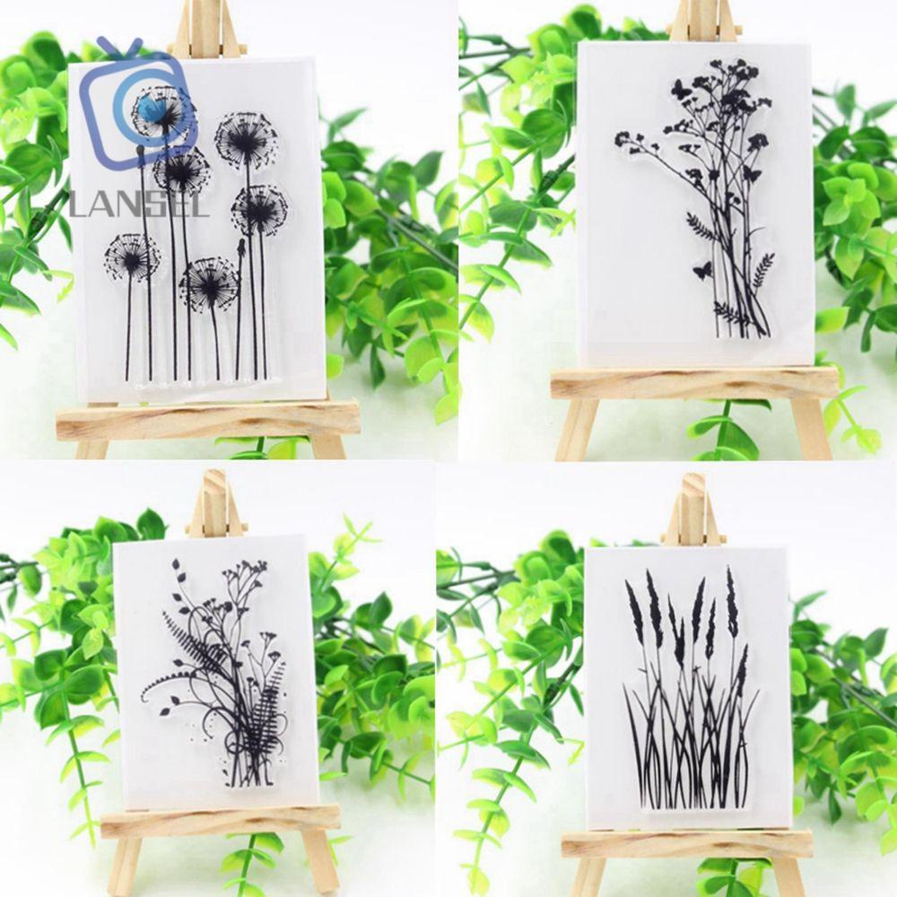 ❤LANSEL❤ Fashion DIY Stamp Rubber Silicone Flower&Grass Scrapbook New Craft Sheet Various Clear Transparent