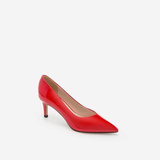 Vascara – Giày Cao Gót Bít Mũi Nhọn – BMN 0344 -Màu Đỏ [Chính Hãng]