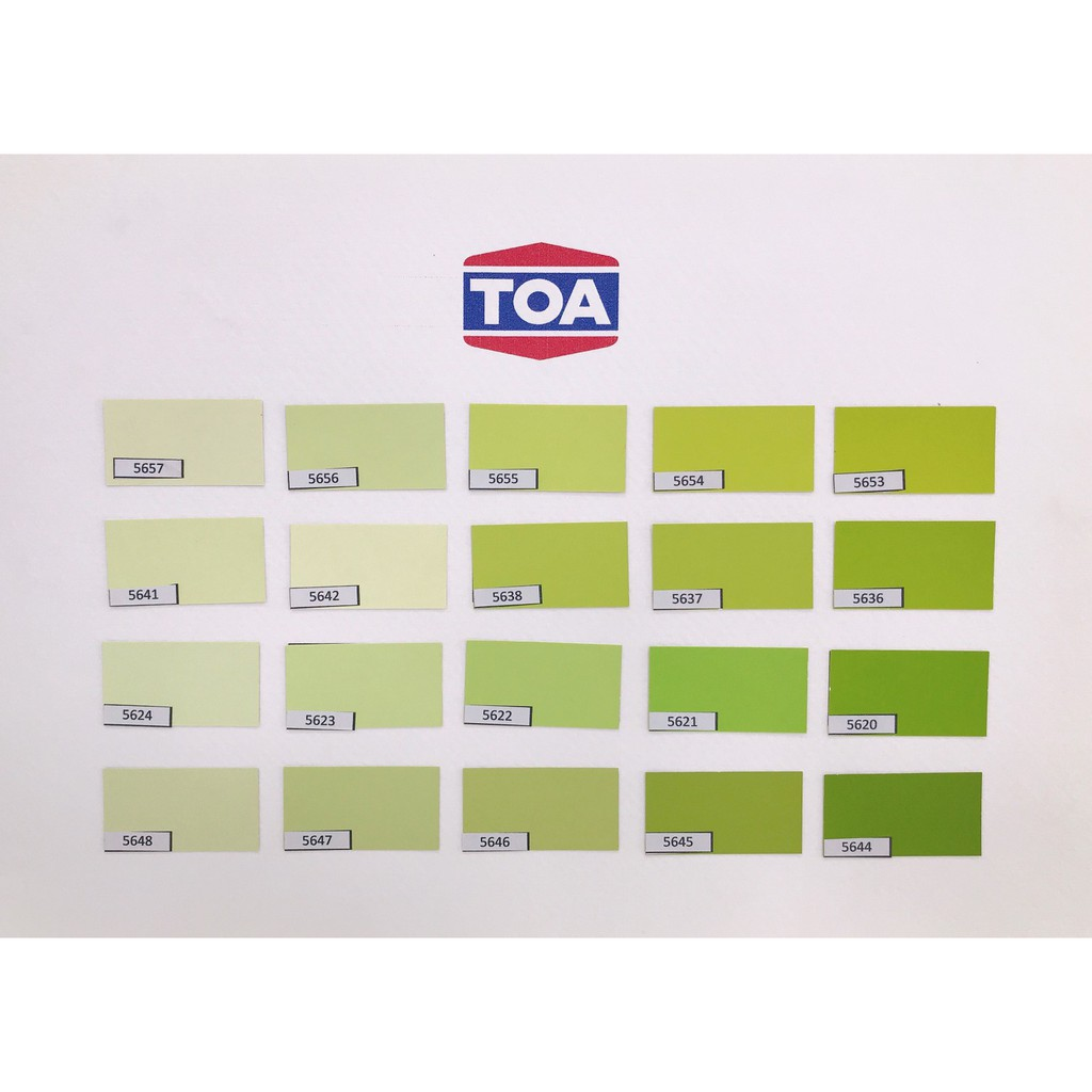 TOA DURACLEAN A+ กึ่งเงา (1แกลลอน) สีเขียวอ่อน