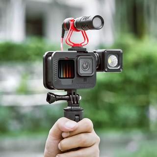 PULUZ Cho GoPro HERO9 Vỏ Bảo Vệ Khung Gắn Viền Kim Loại Màu Đen Với Khóa Ngàm Cơ Bản & Vít (Đen)