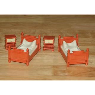 99% Đồ chơi 2 bộ giường và tủ đầu giường Playmobil GERMANY