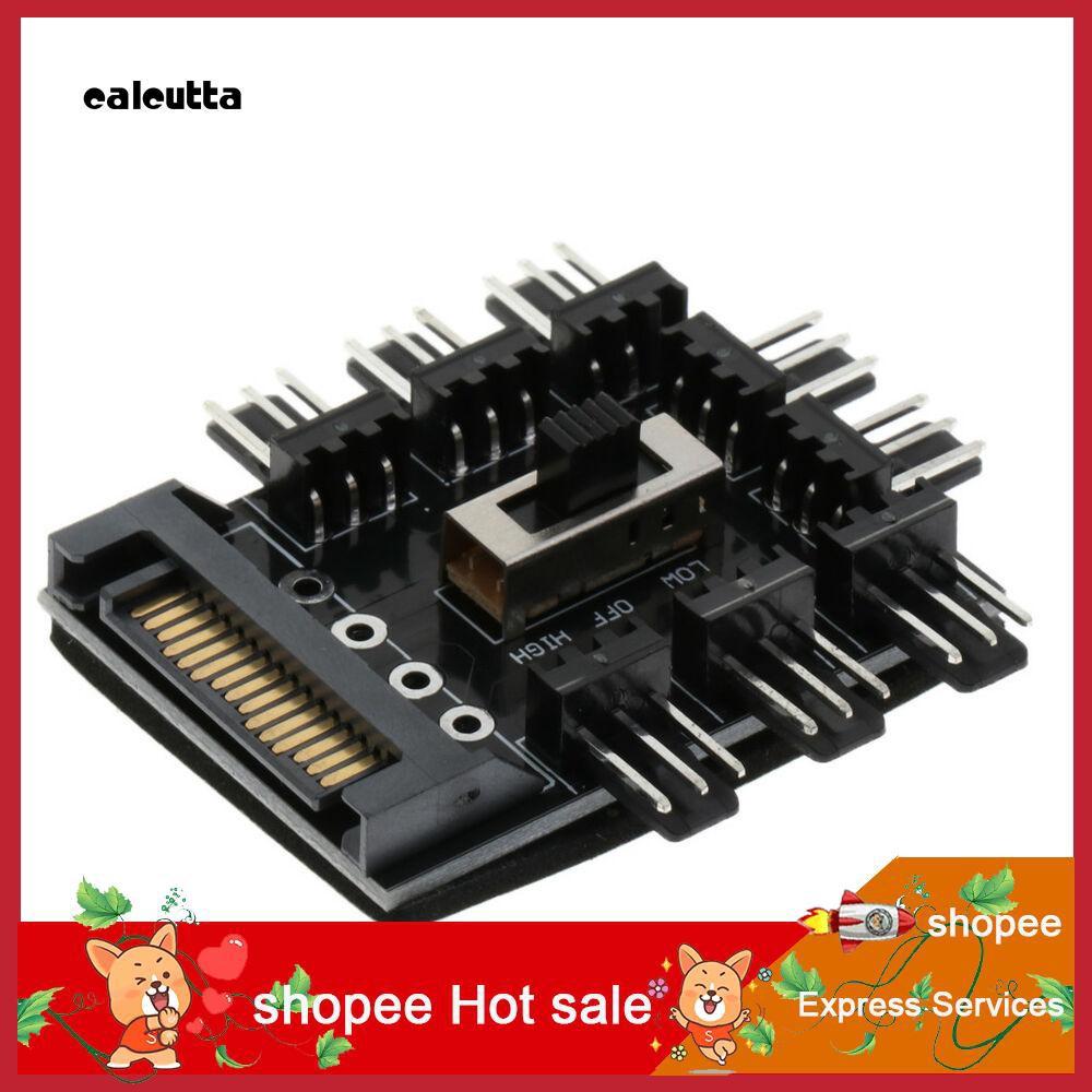 ♛♛♛4/3Pin SATA to 8 Way Cooling Fan Socket Splitter Power