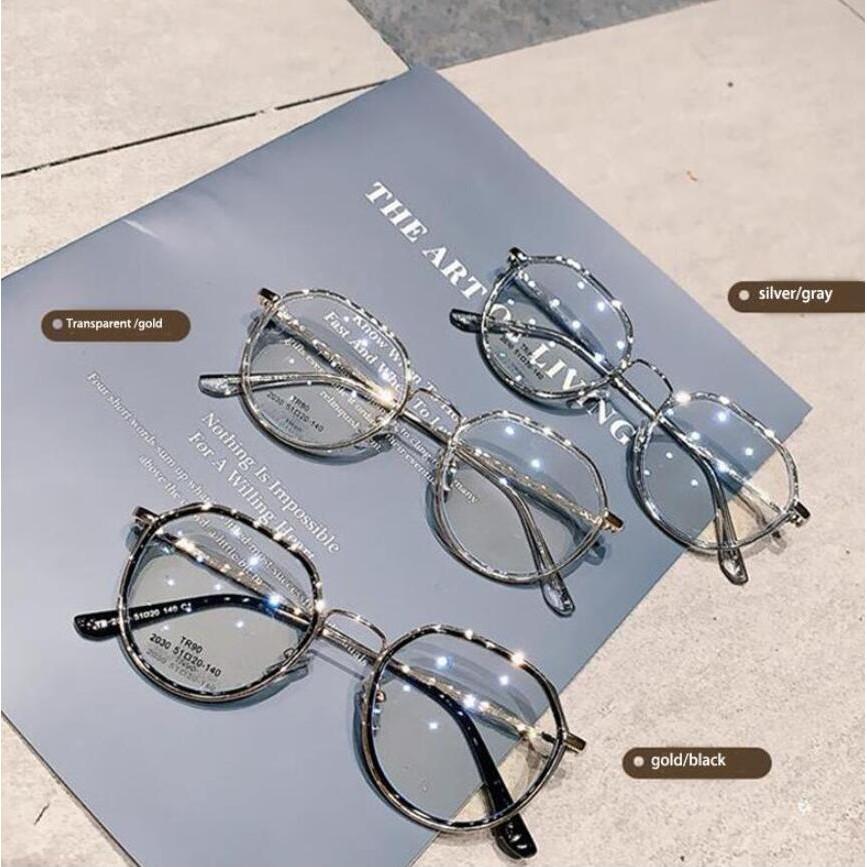 Mắt kính chống tia sáng xanh chống bức xạ gọng kim loại thời trang dành cho bạn nữ