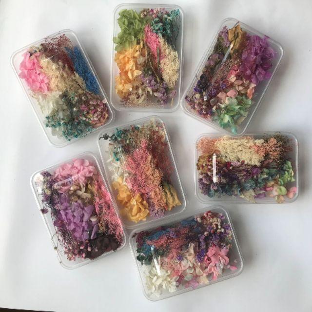 Hoa khô Vĩnh Cửu – Set hỗn hợp trên 10 loại hoa