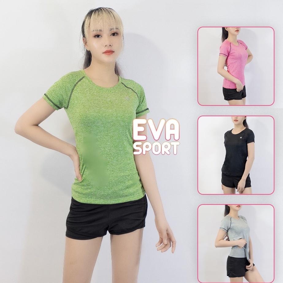 Áo tập gym nữ tập Yoga aerobic thể thao vải cao cấp co giãn 4 chiều, áo thun tập gym nữ