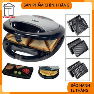 [Mã 159ELSALE hoàn 7% đơn 300K] [Tiross – Việt Nam] Kẹp nướng Sanwich Tiross 3 trong 1, Tiross TS513