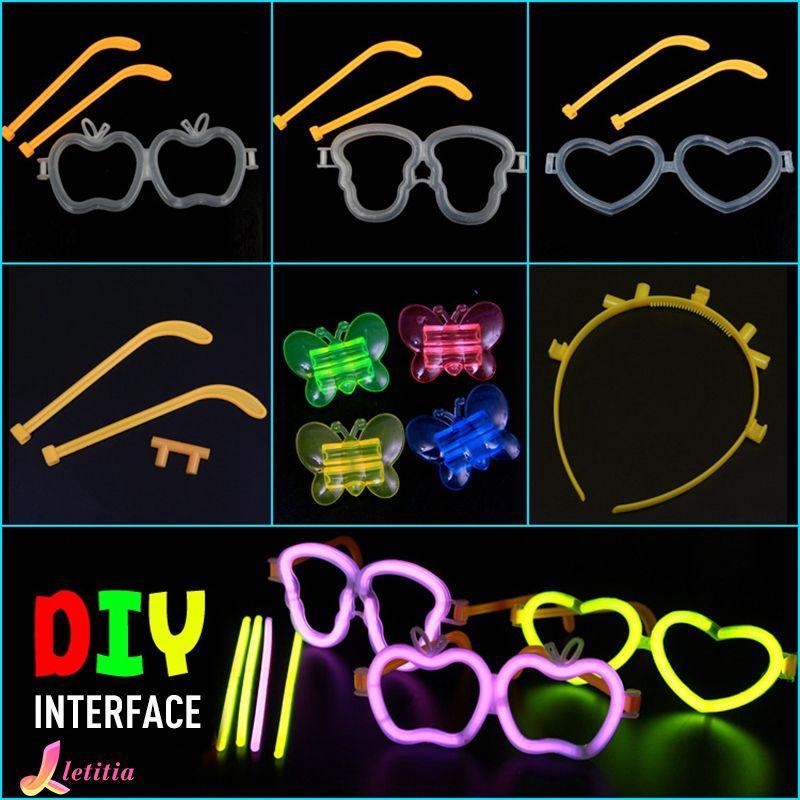 Light Luminous Stick DIY Toy Butterfly Model Headband Glasses Model Accessories Letitia