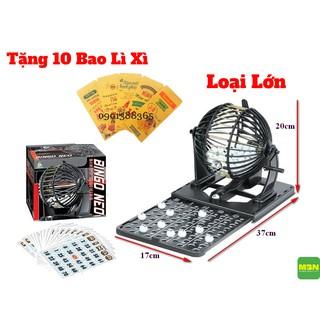Bộ Trò Chơi Lô Tô Bingo Neo Lồng Sắt Cao Cấp Loại Lớn