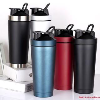 Bình Lắc Shaker Inox – Bình Nước Du Lịch Tập Thể Thao, Tập Gym