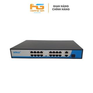 Bộ chia mạng (Switch) Poe Hrui HR901-AF-1621GS-300 16 port POE + 2 Uplink thumbnail