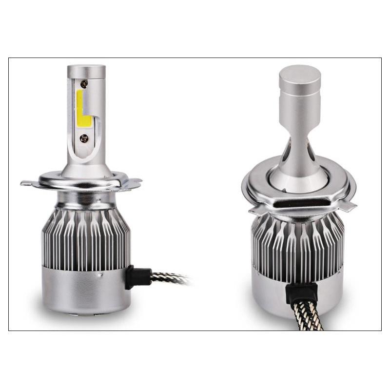 Bộ 2 Đèn pha led C6 36w chân H4 siêu sáng cho ô tô