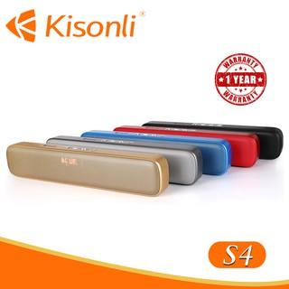 [MÀU NGẪU NHIÊN] Loa Kisonli Bluetooth S4 - Âm thanh chuẩn, màu sắc trẻ trung