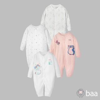 Romper sơ sinh BAA BABY dài tay, bộ quần áo liền dễ thương cho bé gái - GN-RP01D