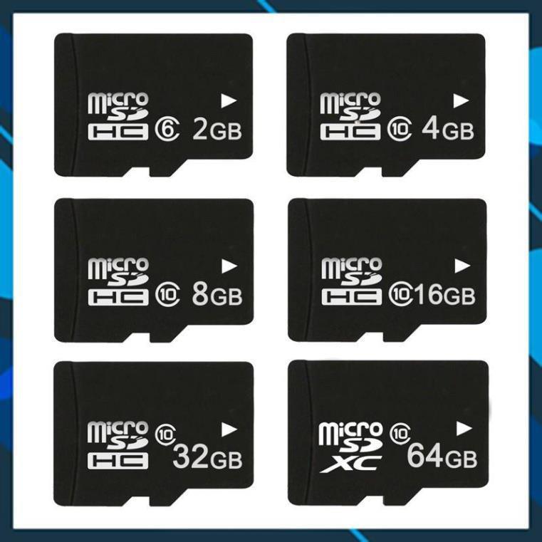 [ CHÍNH HÃNG ] Thẻ nhớ MicroSD Class 10 Tốc độ cao (Đen) 2GB/4GB/8GB/16GB/32GB/64GB, hàng chính hãng chất lượng cao