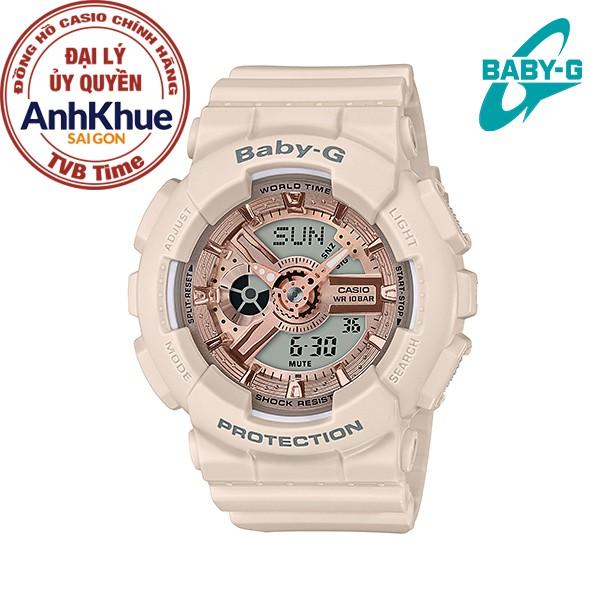 Đồng hồ nữ dây nhựa Casio Baby-G chính hãng Anh Khuê BA-110CP-4ADR