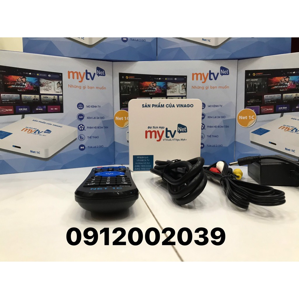 [Mã 157ELSALE hoàn 7% đơn 300K] TV BOX MYTV NET 1C - 2021 RAM 2G-ROM 16GB