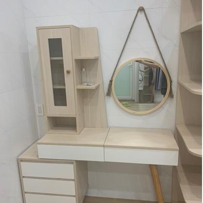 Gương Tròn Treo Tường Khung Gỗ NOITHATNHANH Mia Cricle Mirror Soi Trang Điểm Nội Thất Phòng Ngủ