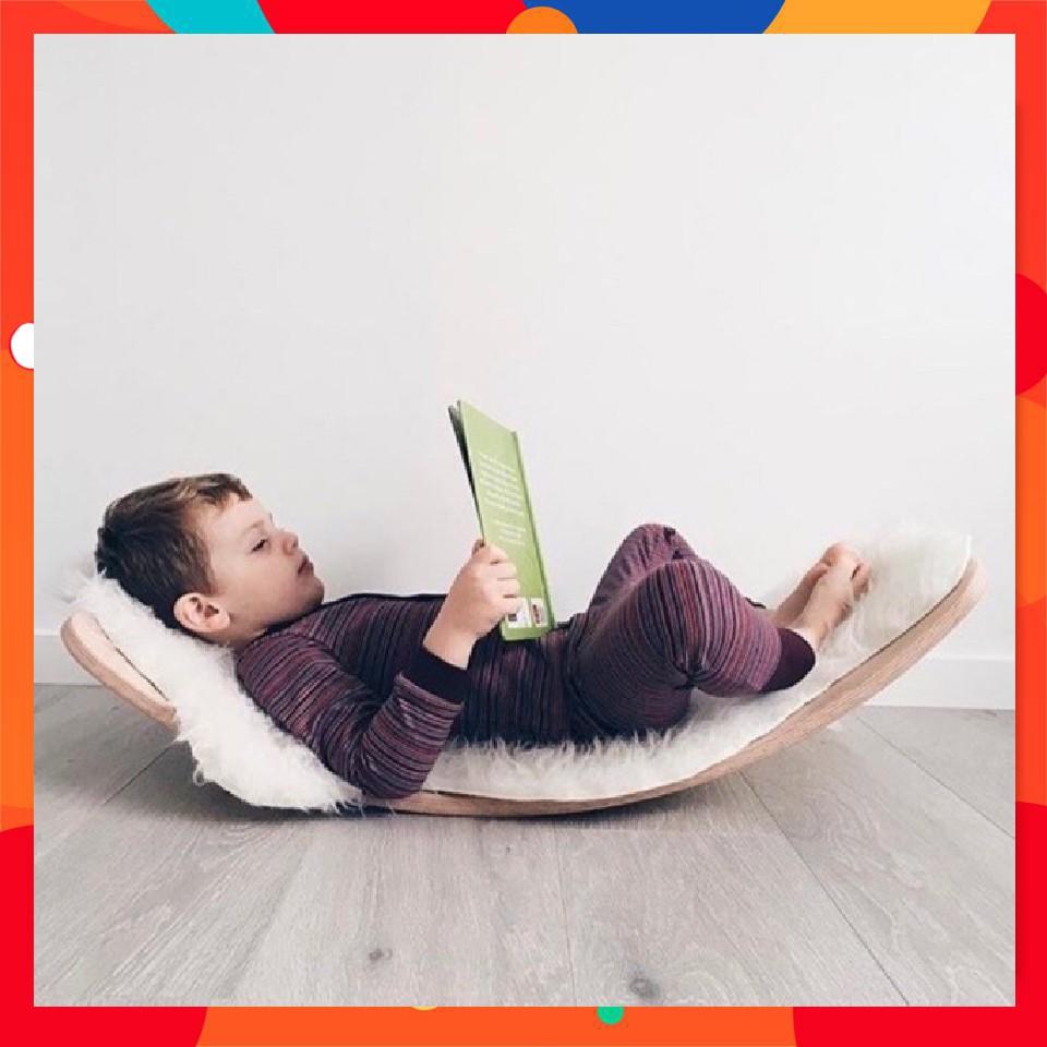 [Mã TOYJAN hoàn 20K xu đơn 50K] Ván thăng bằng, ván bập bênh Montessori, Steiner, Reggio joy board, Gỗ sồi nhập khẩu