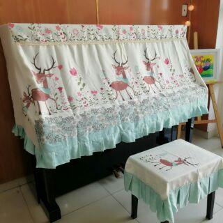 KHĂN PHỦ ĐÀN PIANO NGUYÊN BỘ CAO CẤP