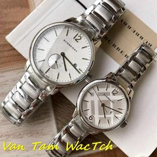 Đồng hồ đôi nam nữ burberry bu10018 40mm, bu10004 40mm máy thụy sĩ quartz, mẫu mặt tròn màu trắng, dây thép không gỉ thumbnail