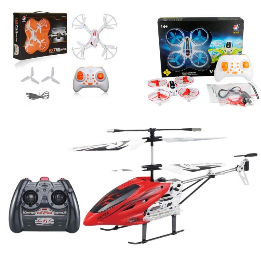 Đồ Chơi Máy Bay Điều Khiển Từ Xa Flycam Mini Drone Đa Dạng Mẫu Cho Bé Lựa Chọn, Nhựa Cao Cấp, Siêu Bền - MEOMEOSHOP2021