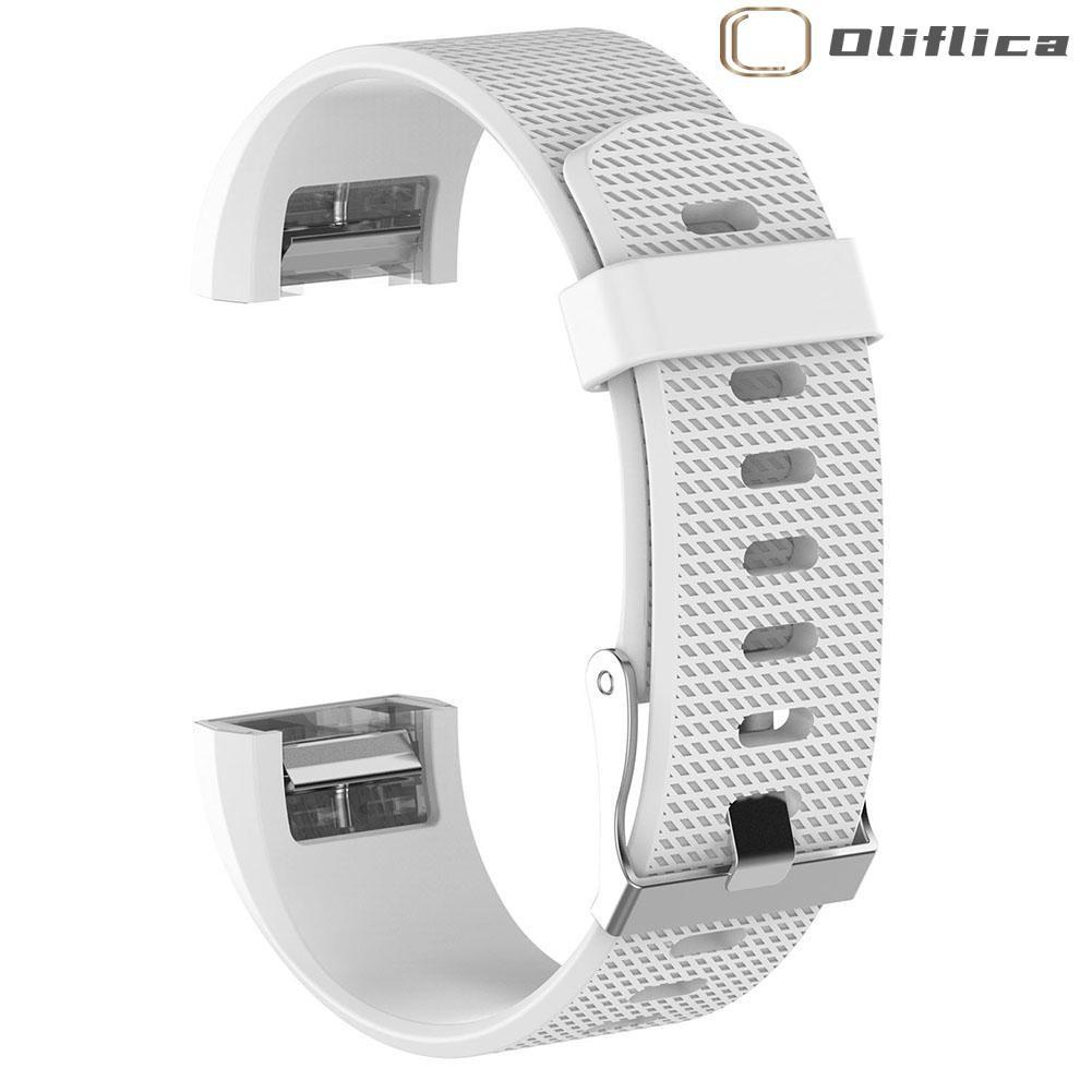 (hàng Có Sẵn) 1 Dây Đồng Hồ Thể Thao Silicone Mềm Olifi Cho Fitbit Charge 2