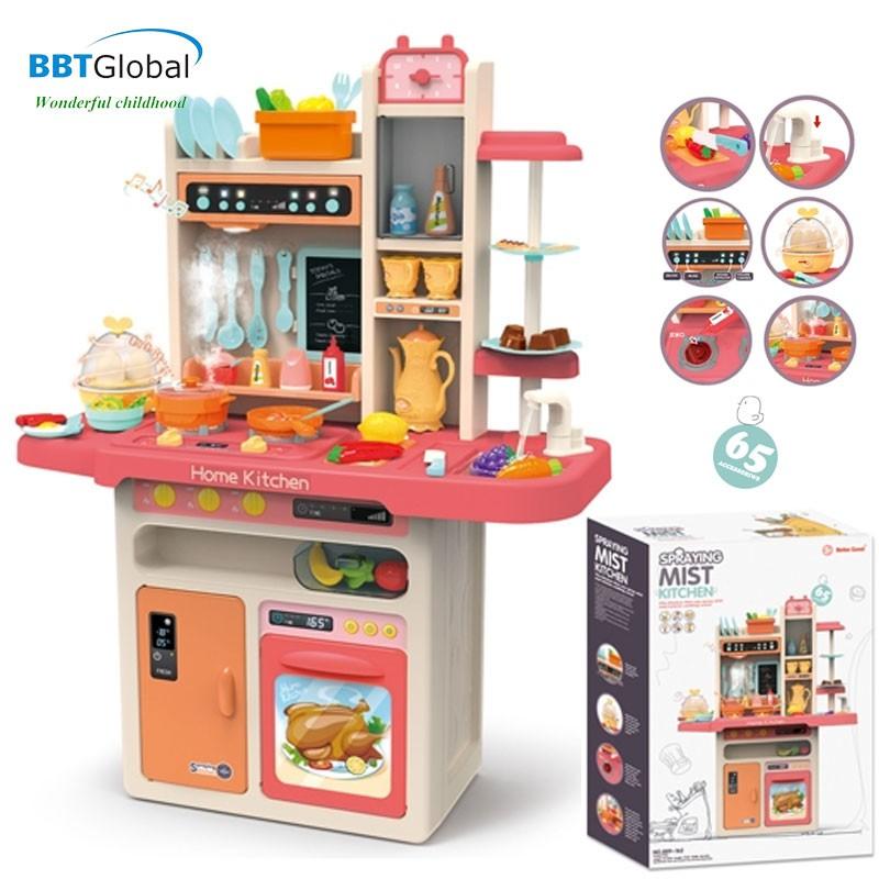 Đồ chơi nấu ăn nhà bếp cao cấp cho bé nhiều chức năng BBT Global