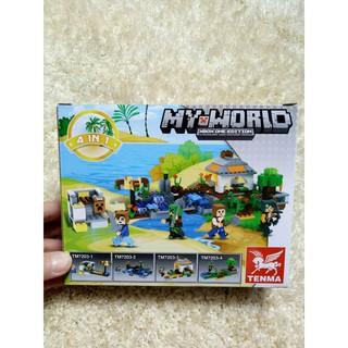 Bộ xếp hình Lego-TM72033 Tenma My World 65 chi tiết