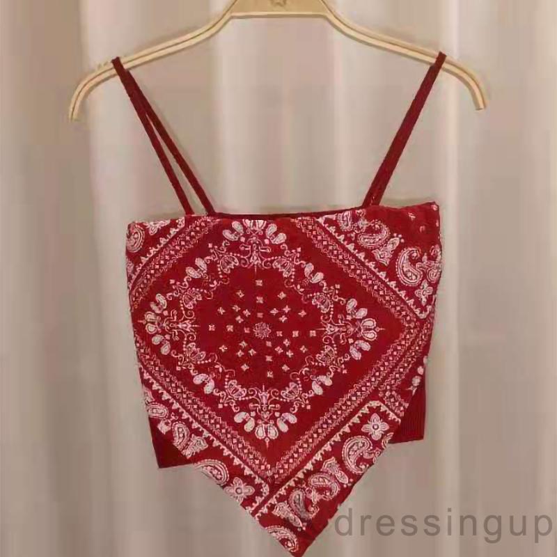 Mặc gì đẹp: Gợi cảm với  Áo croptop nữ 2 dây lai cách điệu in họa tiết Paisley gợi cảm