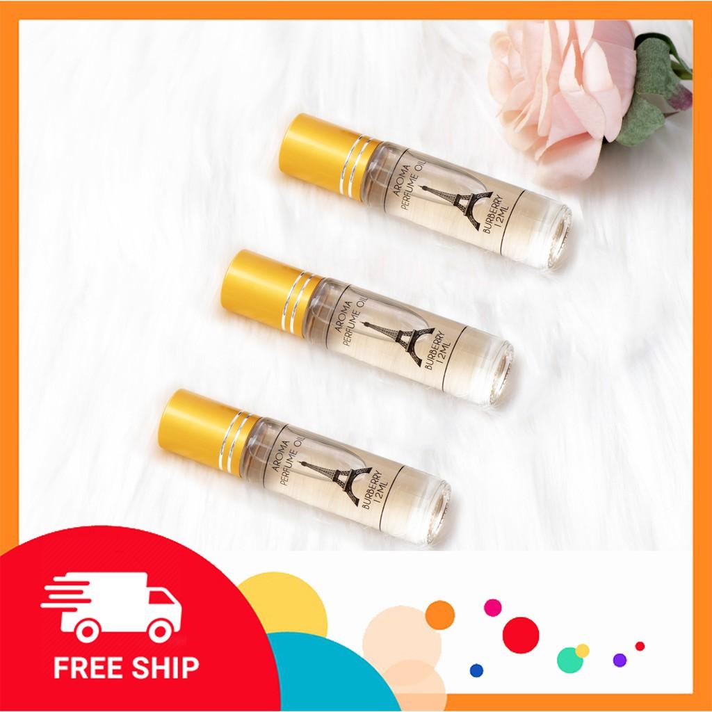 Nước Hoa Nữ Thơm Lâu Aroma Perfume Paris Lưu Hương 12 Tiếng Không Cồn 12ml
