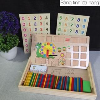 Đồng hồ bảng tính đa năng bằng gỗ cho bé