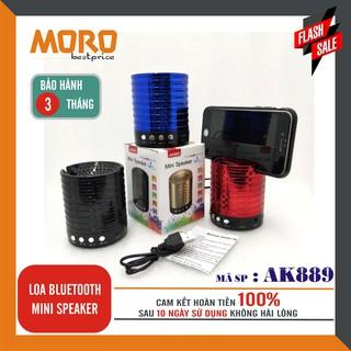 [Mã ELFLASH5 giảm 20K đơn 50K] Loa bluetooth mini âm thanh nổi AK889 (có giá đỡ điện thoại) – Hàng nhập khẩu